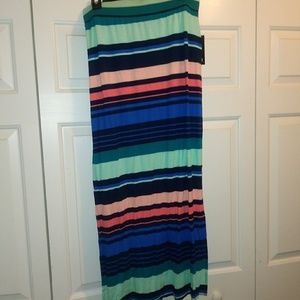 Lovely Multi Colored Stripes Maxi Skirt